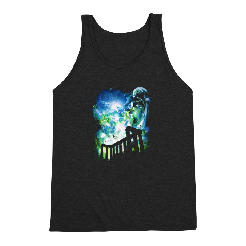 Aurora Night Men's Triblend Tank by moncheng's Artist Shop