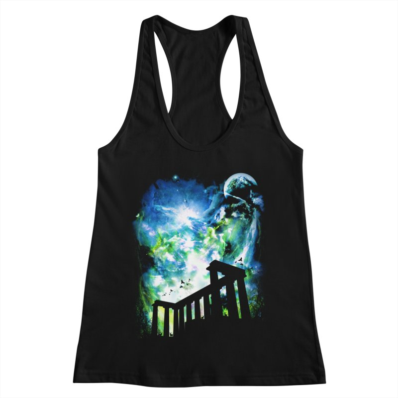 Aurora Night Women's Racerback Tank by moncheng's Artist Shop