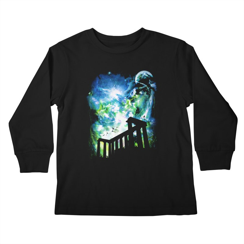 Aurora Night Kids Longsleeve T-Shirt by moncheng's Artist Shop
