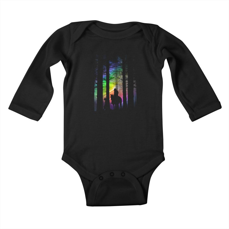 The Traveler Kids Baby Longsleeve Bodysuit by moncheng's Artist Shop