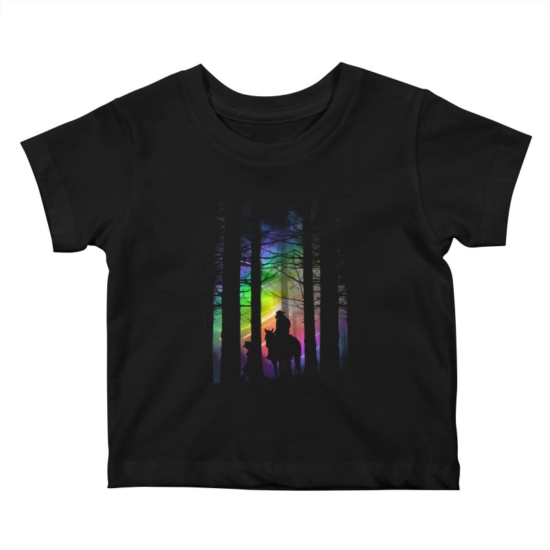 The Traveler Kids Baby T-Shirt by moncheng's Artist Shop
