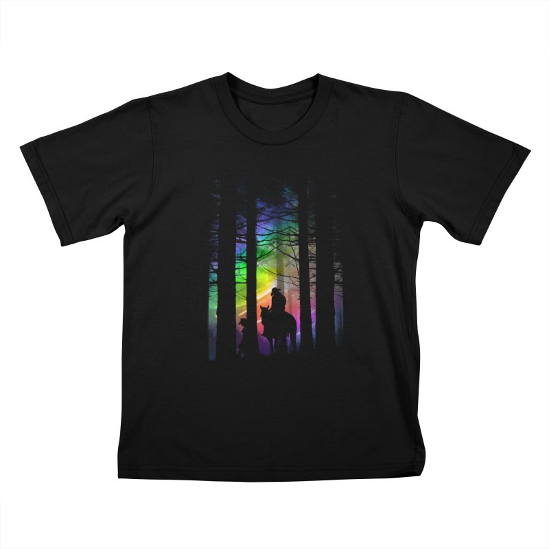 The Traveler Kids T-shirt by moncheng's Artist Shop