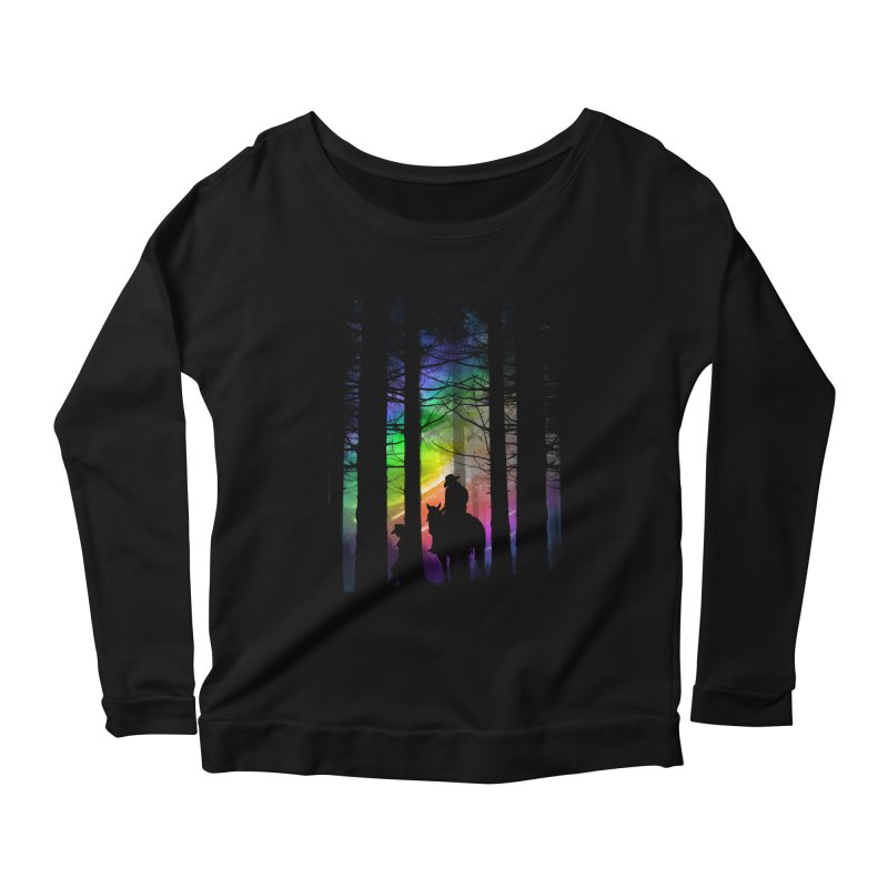 The Traveler Women's Longsleeve Scoopneck  by moncheng's Artist Shop