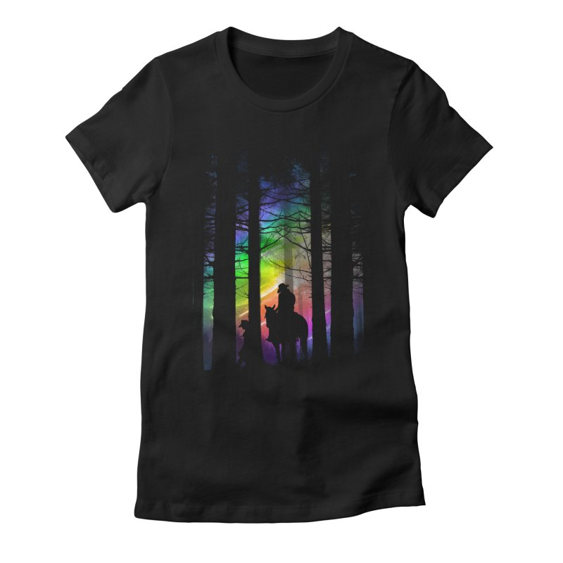 The Traveler Women's Fitted T-Shirt by moncheng's Artist Shop
