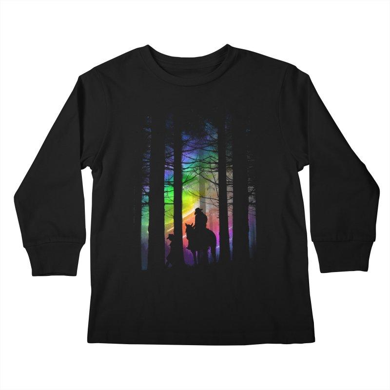 The Traveler Kids Longsleeve T-Shirt by moncheng's Artist Shop