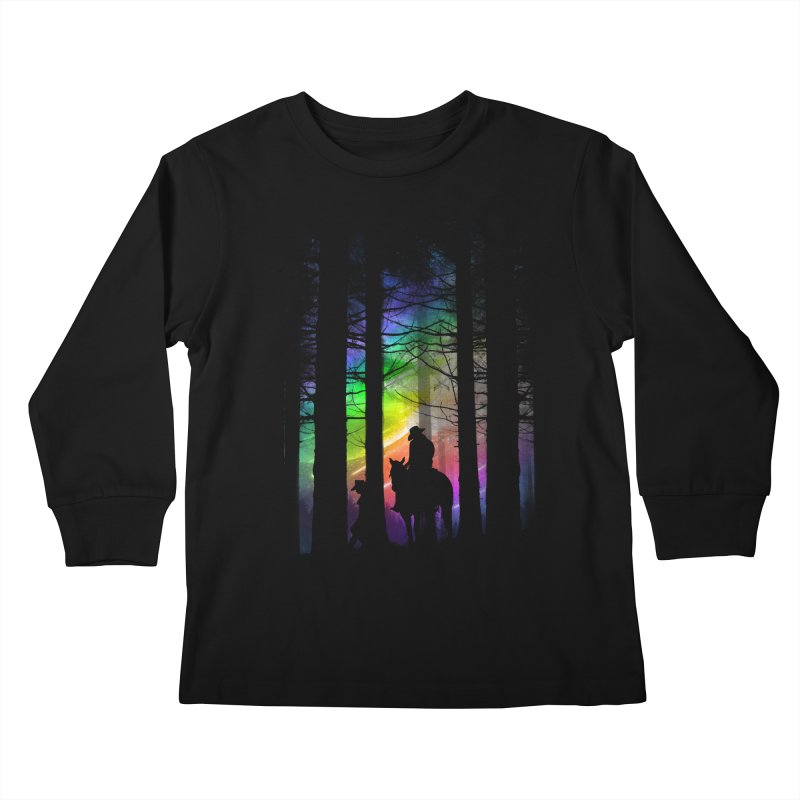 The Traveler Kids Longsleeve T-Shirt by moncheng's Artist Shop
