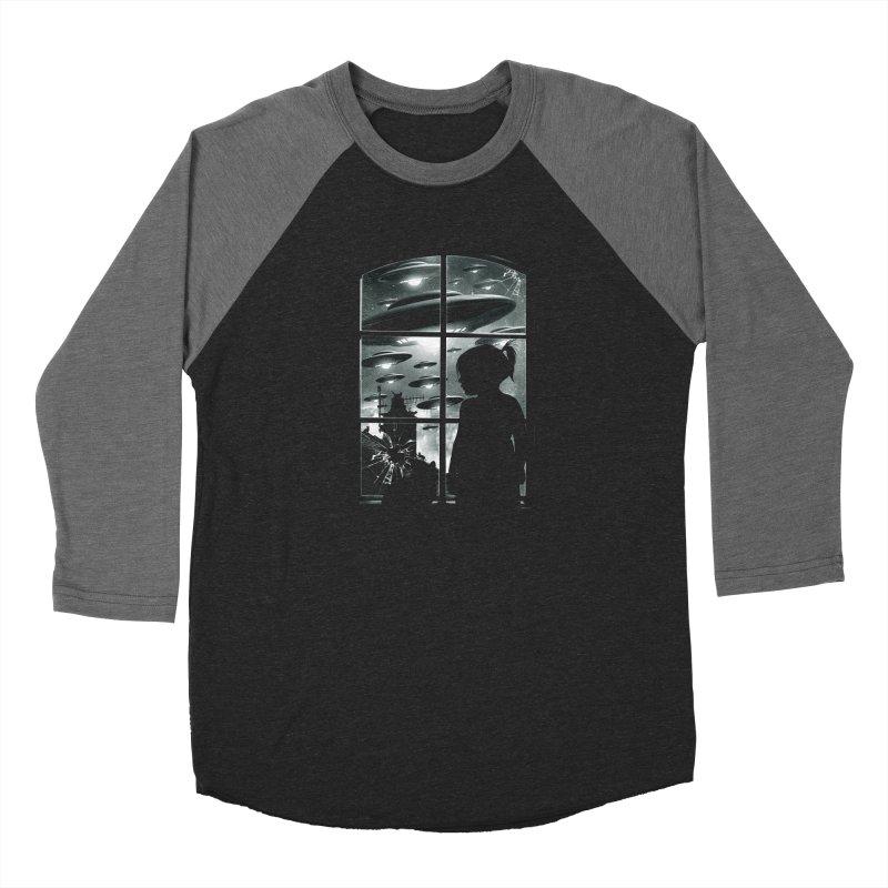 The Invasion (BW) Women's Longsleeve T-Shirt by moncheng's Artist Shop