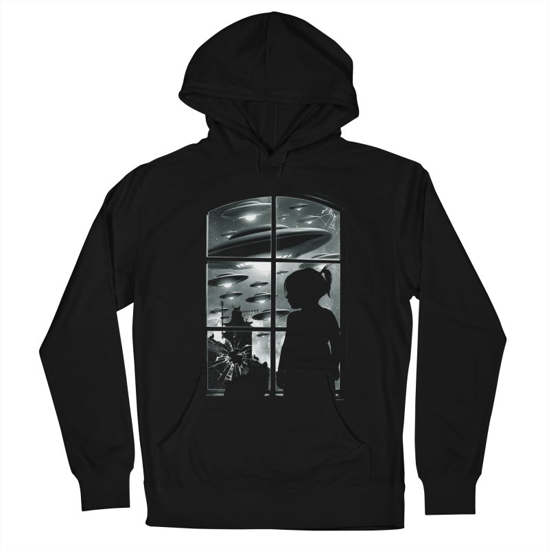 The Invasion (BW) Men's French Terry Pullover Hoody by moncheng's Artist Shop