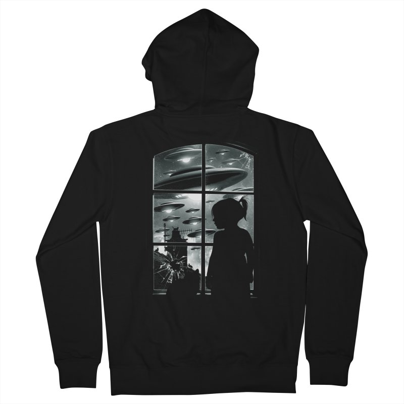 The Invasion (BW) Men's Zip-Up Hoody by moncheng's Artist Shop