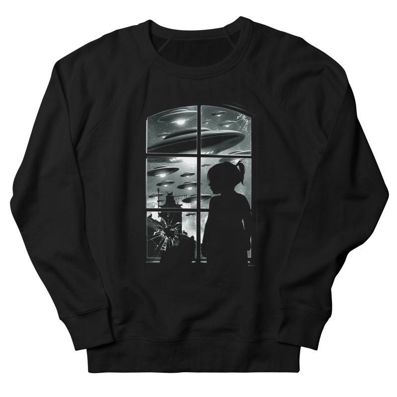 The Invasion (BW) Men's French Terry Sweatshirt by moncheng's Artist Shop