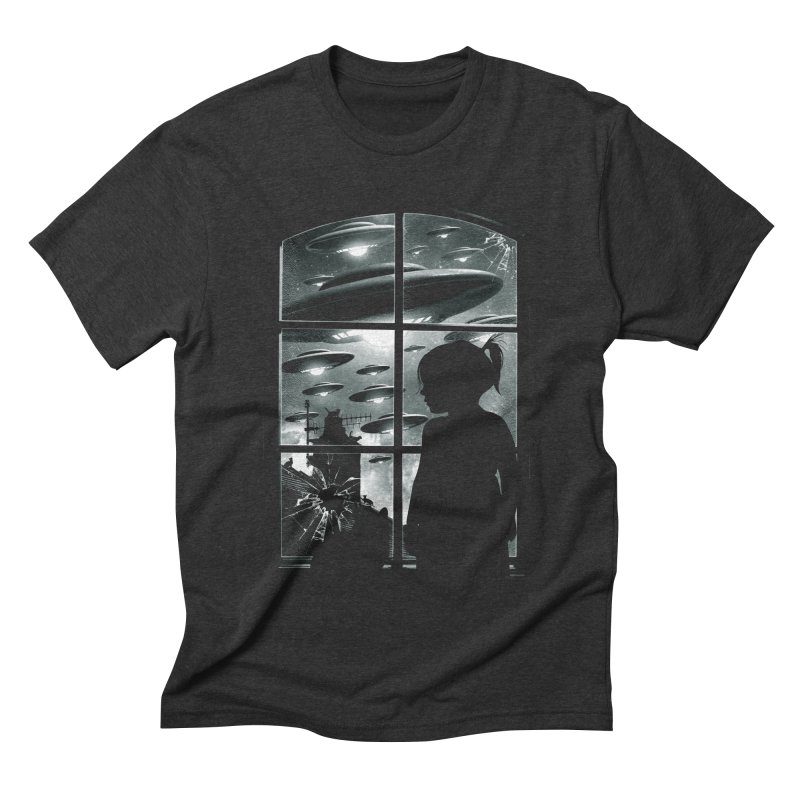 The Invasion (BW) Men's Triblend T-shirt by moncheng's Artist Shop