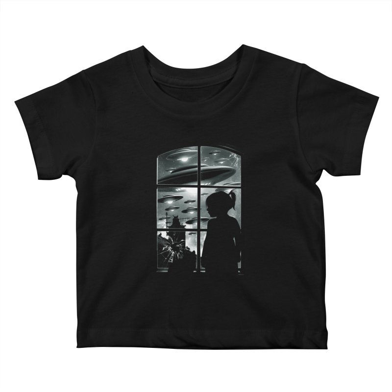 The Invasion (BW) Kids Baby T-Shirt by moncheng's Artist Shop