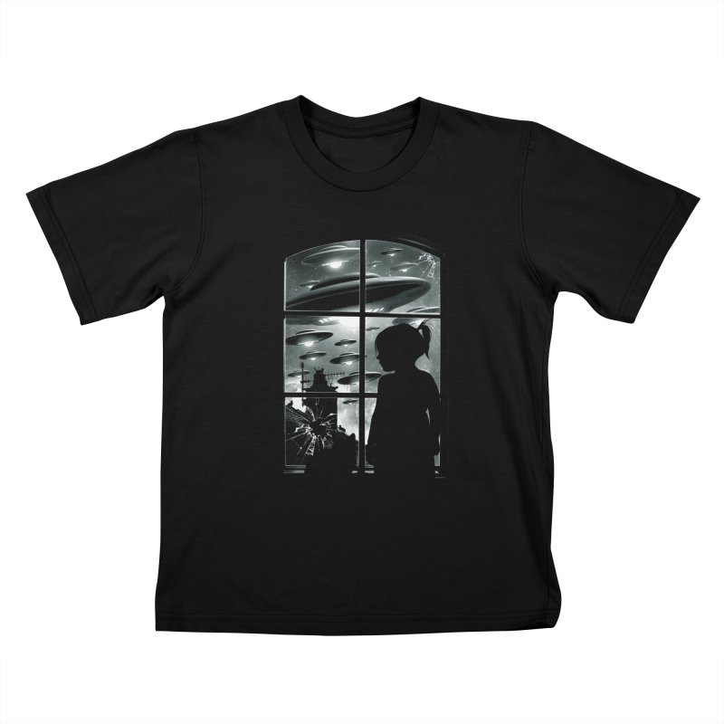 The Invasion (BW) Kids T-Shirt by moncheng's Artist Shop