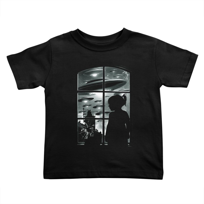 The Invasion (BW) Kids Toddler T-Shirt by moncheng's Artist Shop
