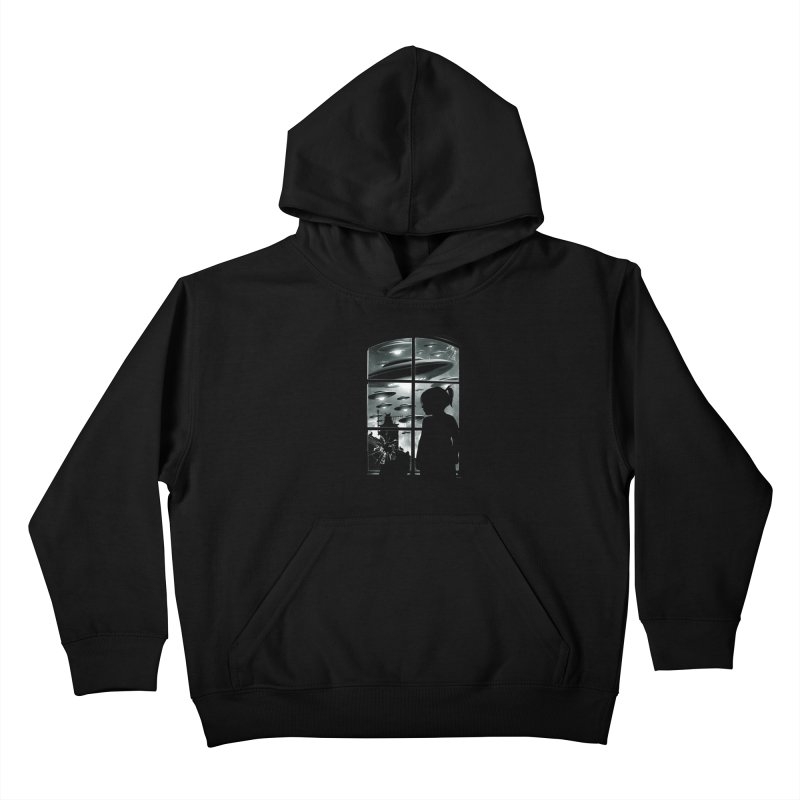 The Invasion (BW) Kids Pullover Hoody by moncheng's Artist Shop