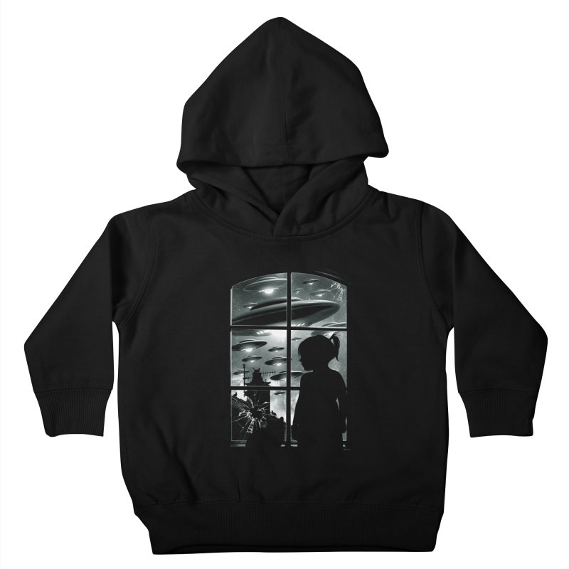 The Invasion (BW) Kids Toddler Pullover Hoody by moncheng's Artist Shop