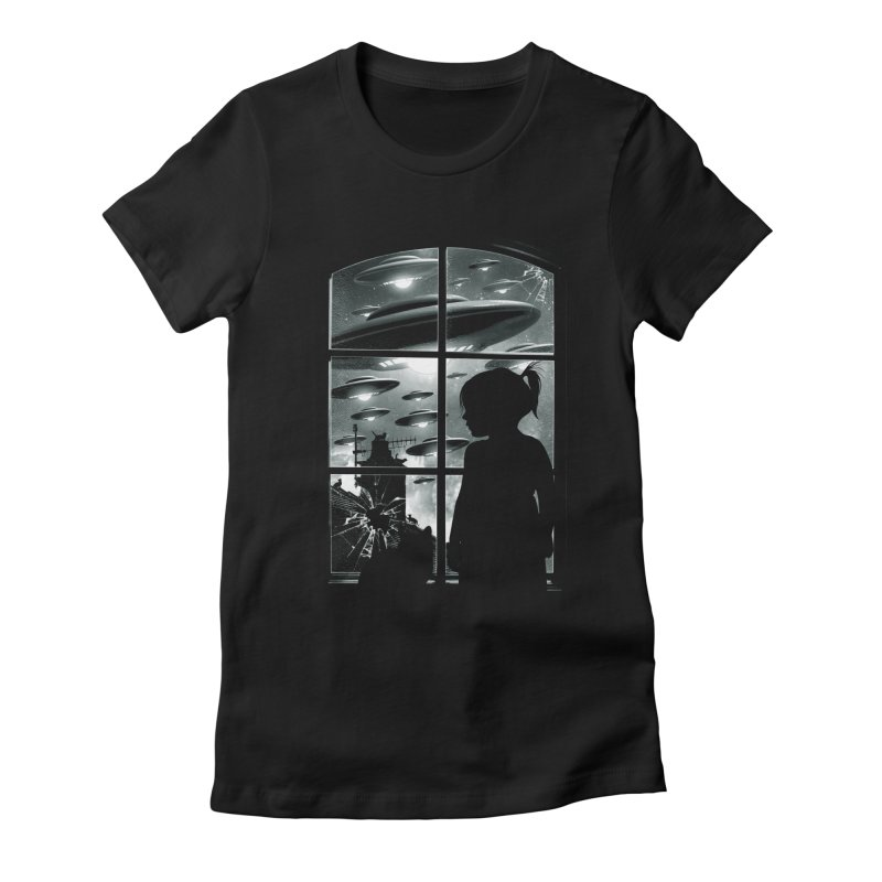 The Invasion (BW) Women's Fitted T-Shirt by moncheng's Artist Shop