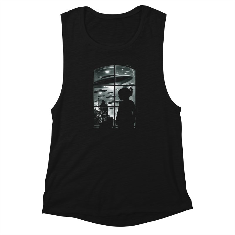 The Invasion (BW) Women's Muscle Tank by moncheng's Artist Shop