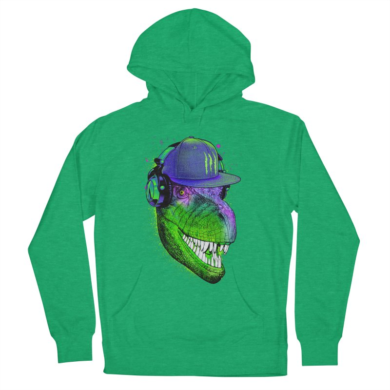 Dj T-Rex Women's French Terry Pullover Hoody by moncheng's Artist Shop