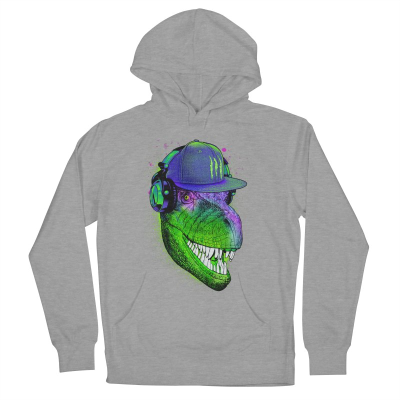 Dj T-Rex Men's French Terry Pullover Hoody by moncheng's Artist Shop
