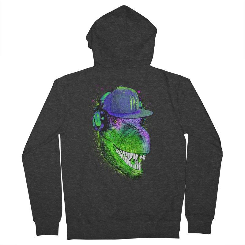 Dj T-Rex Men's Zip-Up Hoody by moncheng's Artist Shop