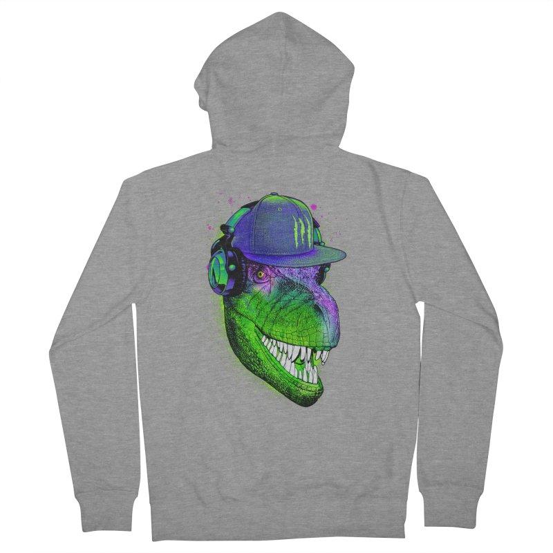 Dj T-Rex Men's French Terry Zip-Up Hoody by moncheng's Artist Shop