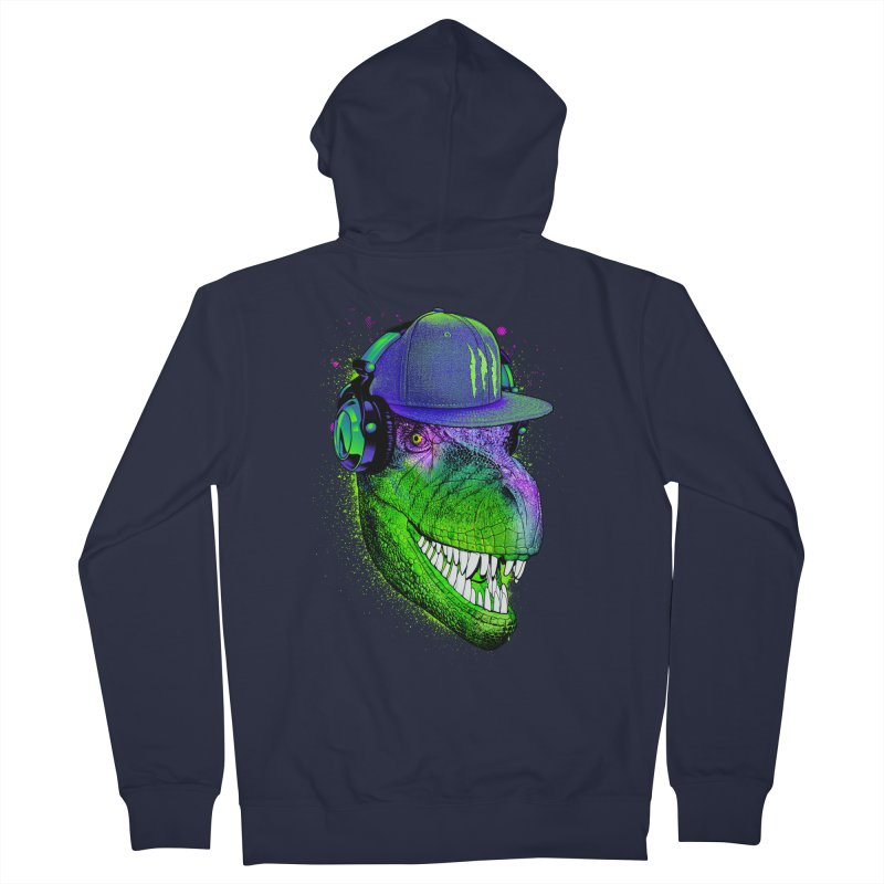 Dj T-Rex Men's Zip-Up Hoody by moncheng's Artist Shop