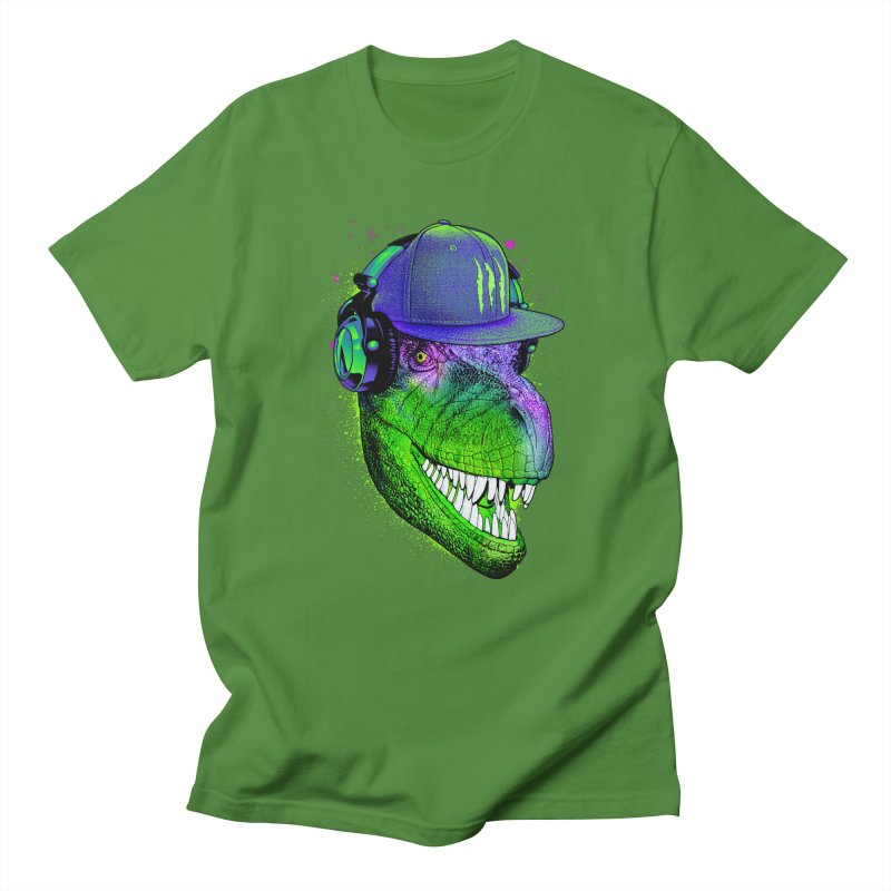 Dj T-Rex Men's T-shirt by moncheng's Artist Shop