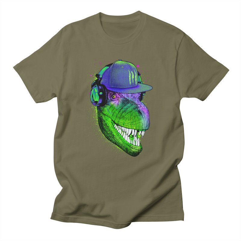 Dj T-Rex Men's T-Shirt by moncheng's Artist Shop