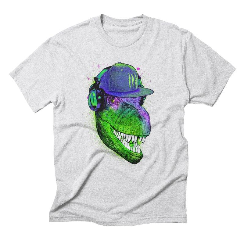 Dj T-Rex Men's Triblend T-Shirt by moncheng's Artist Shop