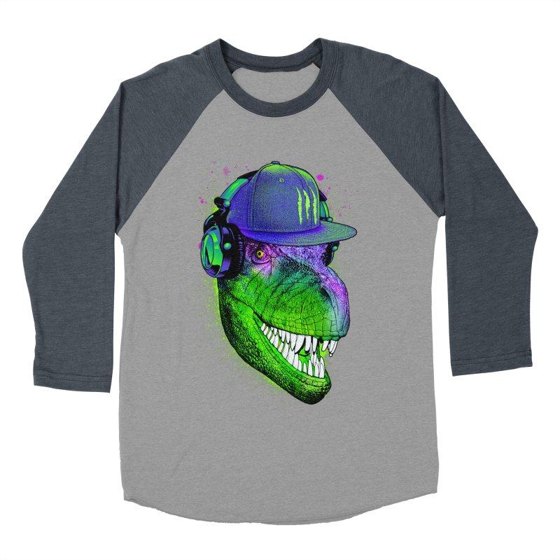 Dj T-Rex Women's Baseball Triblend Longsleeve T-Shirt by moncheng's Artist Shop