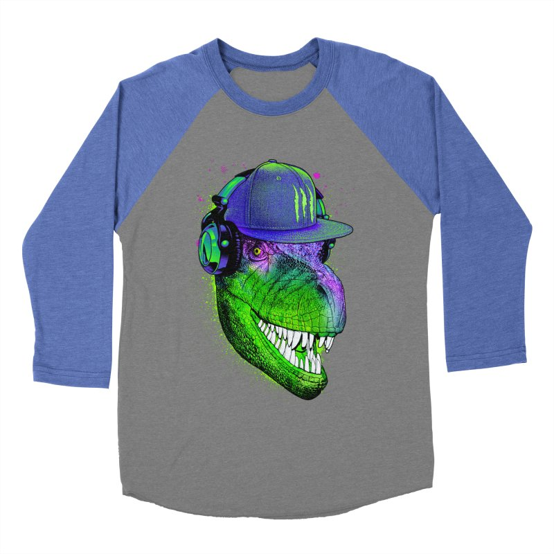 Dj T-Rex Men's Baseball Triblend T-Shirt by moncheng's Artist Shop
