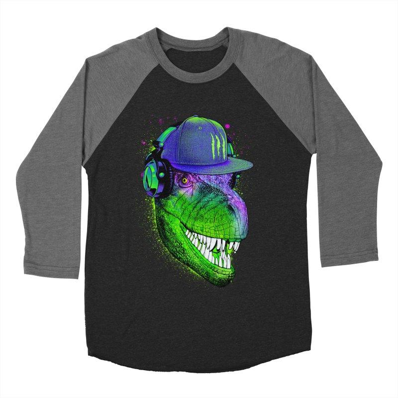 Dj T-Rex Men's Baseball Triblend Longsleeve T-Shirt by moncheng's Artist Shop