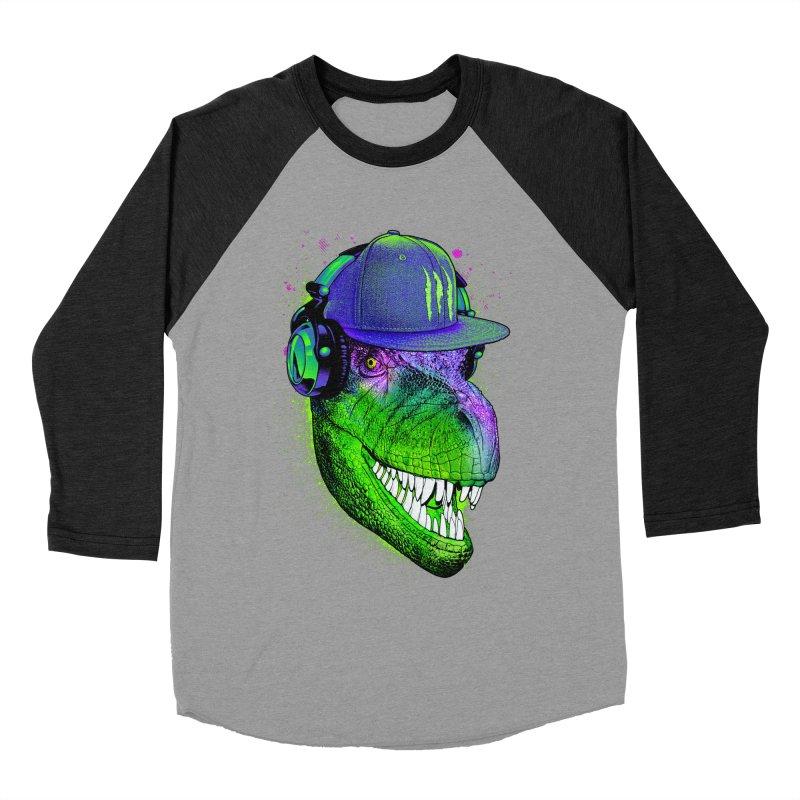 Dj T-Rex Men's Baseball Triblend T-Shirt by moncheng's Artist Shop