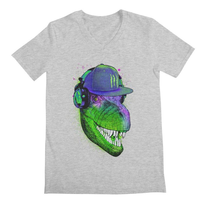 Dj T-Rex Men's Regular V-Neck by moncheng's Artist Shop