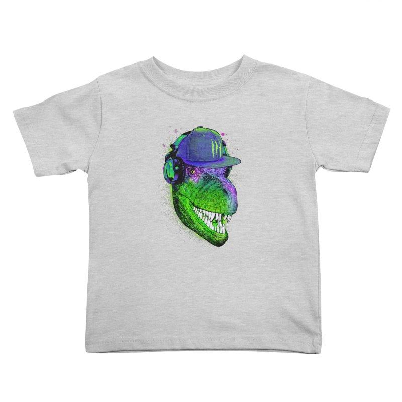 Dj T-Rex Kids Toddler T-Shirt by moncheng's Artist Shop