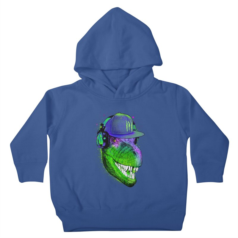 Dj T-Rex Kids Toddler Pullover Hoody by moncheng's Artist Shop