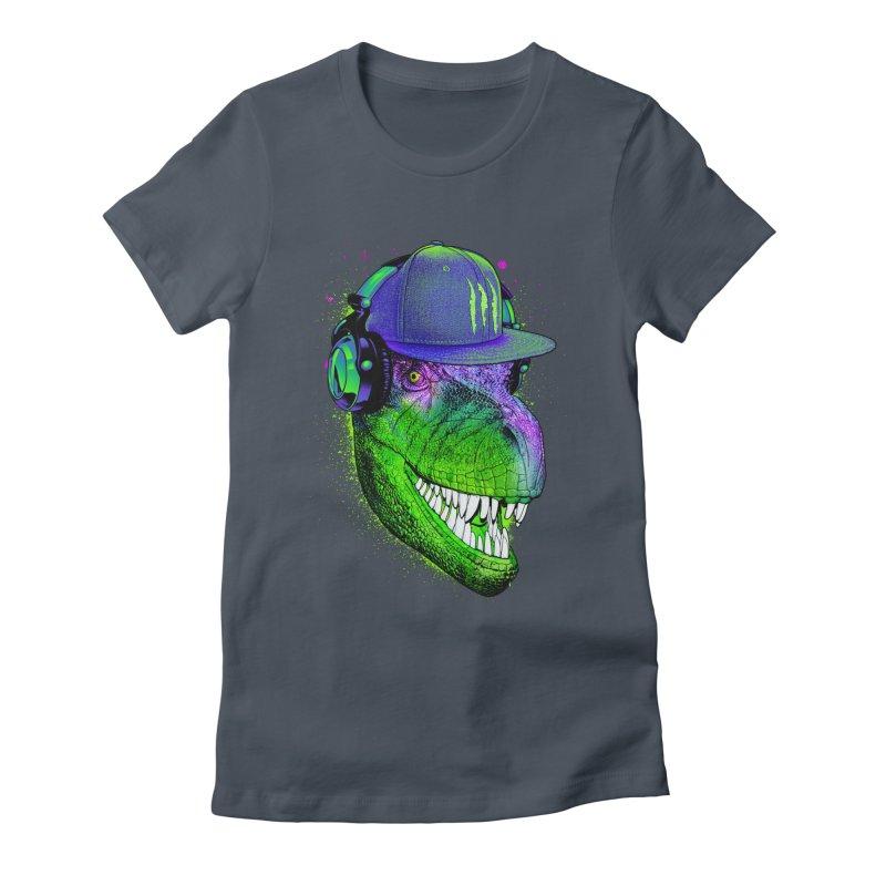 Dj T-Rex Women's T-Shirt by moncheng's Artist Shop