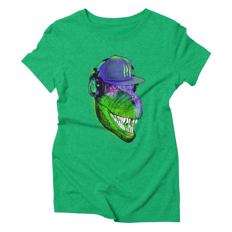 Dj T-Rex Women's Triblend T-Shirt by moncheng's Artist Shop