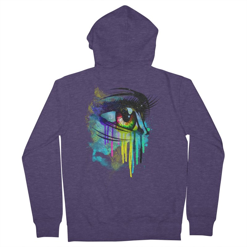 Tears of Colors Men's Zip-Up Hoody by moncheng's Artist Shop