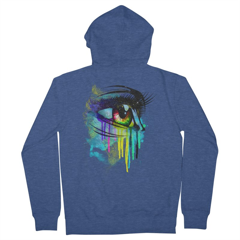 Tears of Colors Men's French Terry Zip-Up Hoody by moncheng's Artist Shop