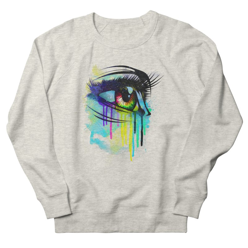 Tears of Colors Men's French Terry Sweatshirt by moncheng's Artist Shop