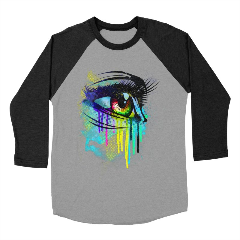 Tears of Colors Women's Baseball Triblend T-Shirt by moncheng's Artist Shop