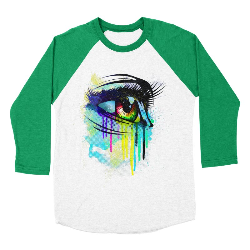 Tears of Colors Men's Baseball Triblend T-Shirt by moncheng's Artist Shop