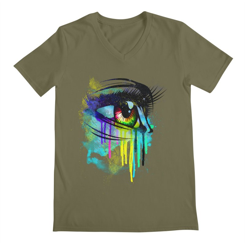 Tears of Colors Men's Regular V-Neck by moncheng's Artist Shop
