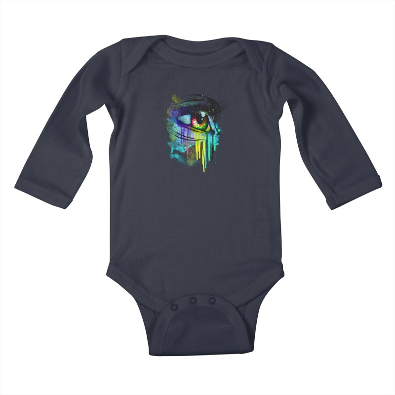 Tears of Colors Kids Baby Longsleeve Bodysuit by moncheng's Artist Shop
