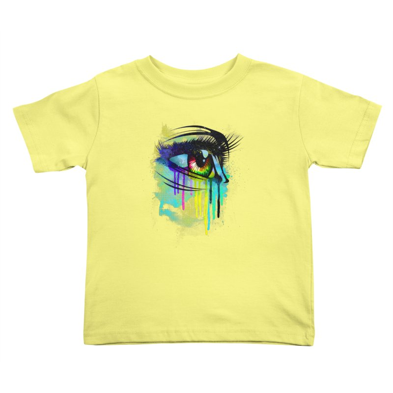 Tears of Colors Kids Toddler T-Shirt by moncheng's Artist Shop
