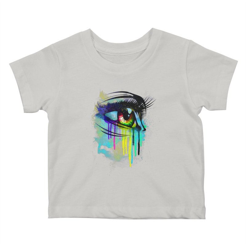 Tears of Colors Kids Baby T-Shirt by moncheng's Artist Shop