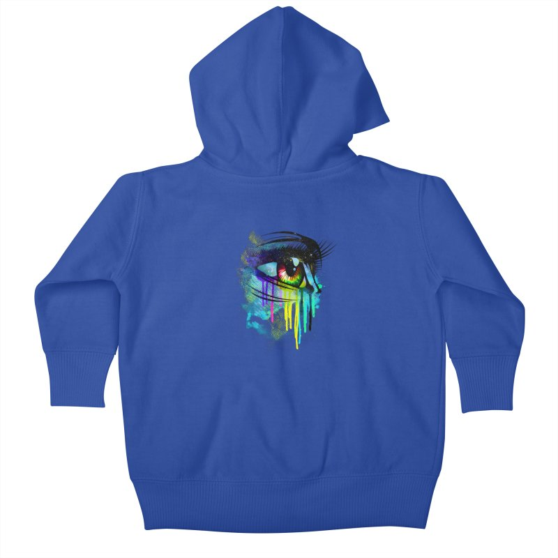 Tears of Colors Kids Baby Zip-Up Hoody by moncheng's Artist Shop