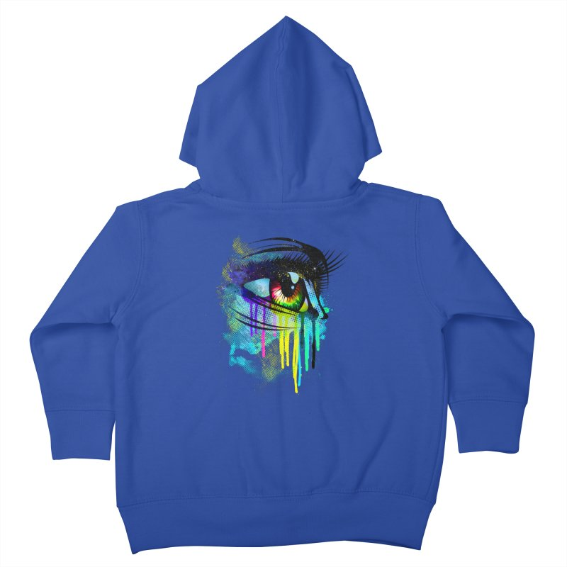 Tears of Colors Kids Toddler Zip-Up Hoody by moncheng's Artist Shop